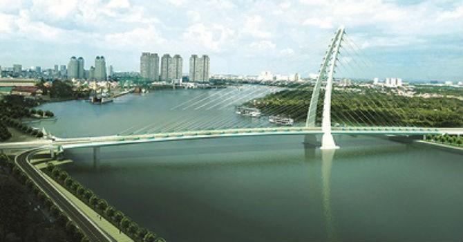 Hơn 5.200 tỷ đồng xây cầu Thủ Thiêm 4