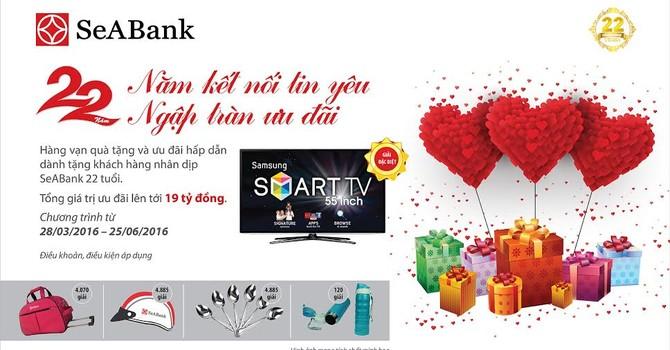 """SeABank chúc mừng khách hàng trúng thưởng chương trình """"22 năm kết nối tin yêu - ngập tràn ưu đãi"""""""