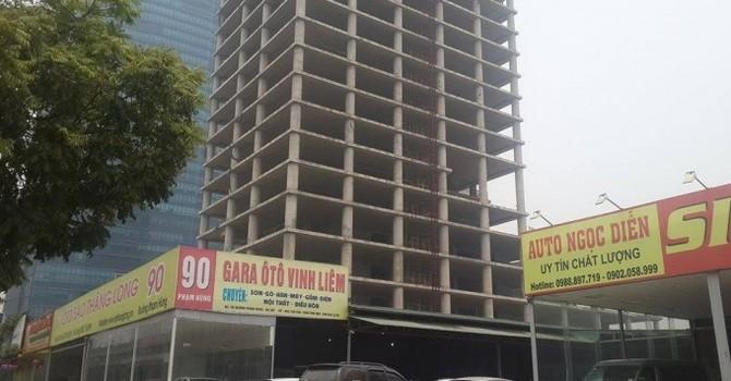 Dự án Vicem Tower: Thiếu tiền đầu tư nên chậm tiến độ?