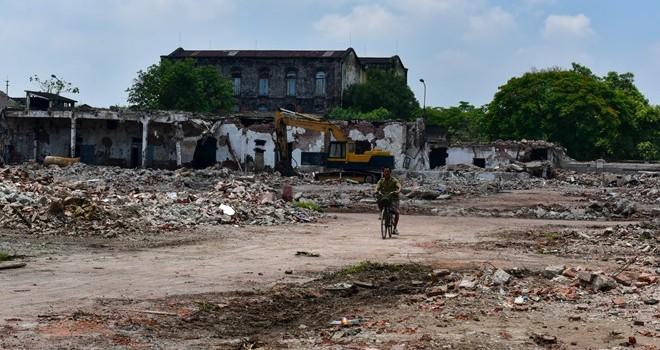 Nhà máy dệt Nam Định đã bị san phẳng gần hết