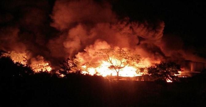 Cháy lớn ở khu công nghiệp Hải Phòng, 3 doanh nghiệp chìm trong biển lửa