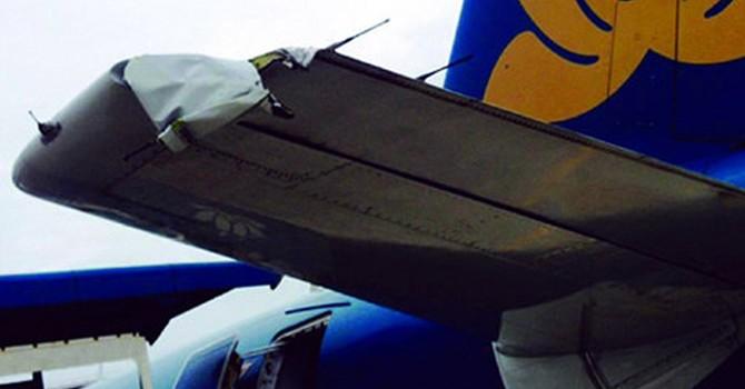 Máy bay của Vietnam Airlines bị rách đuôi sau khi hạ cánh