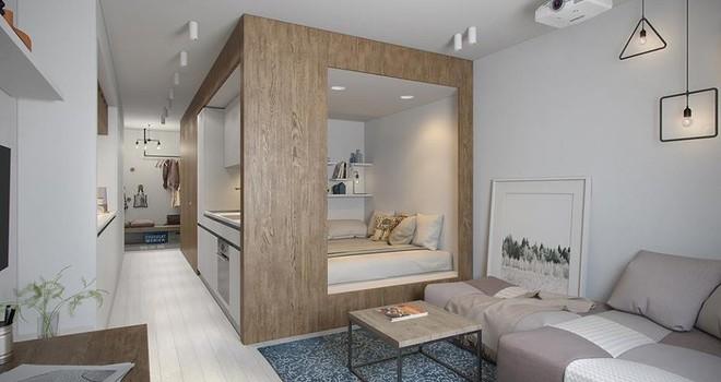 Ngỡ ngàng với căn hộ chưa đầy 30m2 nhưng không gian thoáng rộng, sang trọng