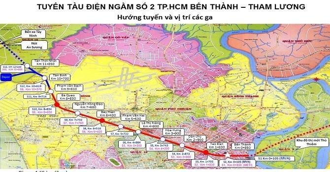 TP.HCM thu hồi hơn 2.600m2 đất quốc phòng để xây nhà ga tuyến metro số 2