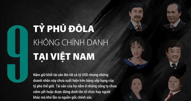9 tỷ phú đô la không chính danh tại Việt Nam