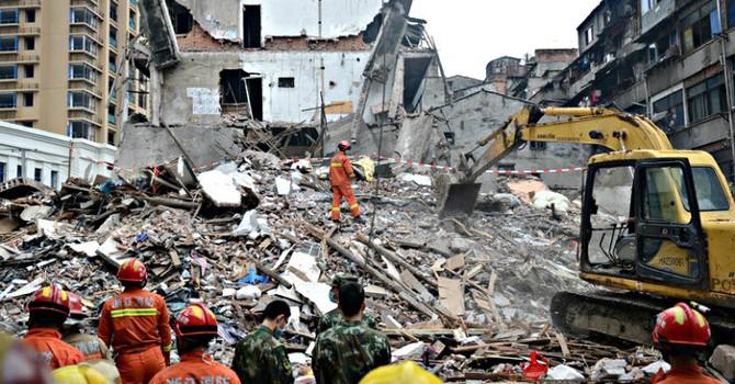 Sập 4 tòa nhà ở Trung Quốc, nhiều người thiệt mạng