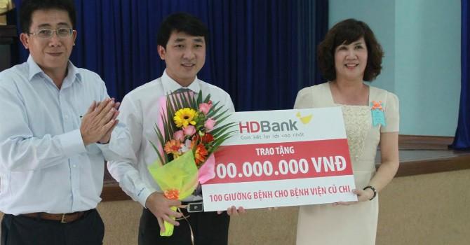 HDBank tài trợ 300 triệu đồng cho Sở Y tế thành phố phát triển bệnh viện tuyến dưới