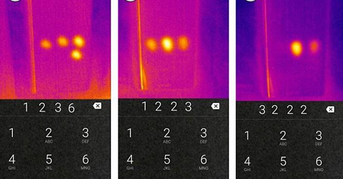 Tin tặc có thể lấy cắp mã PIN smartphone bằng máy ảnh nhiệt