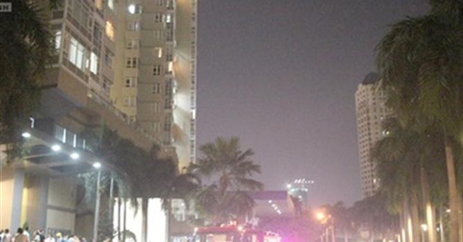 Cháy cao ốc 37 tầng ở TP.HCM