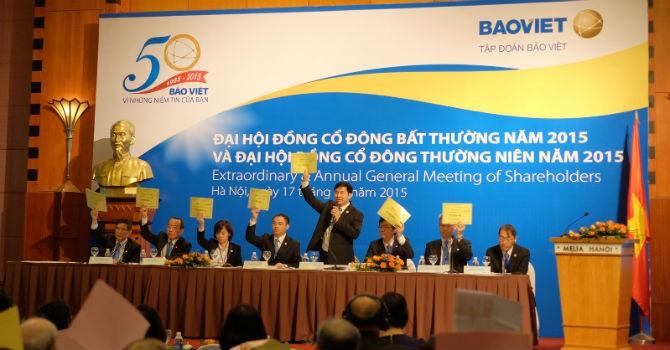 ĐHĐCĐ Tập đoàn Bảo Việt: 5 người của Bộ Tài chính vào Hội đồng quản trị