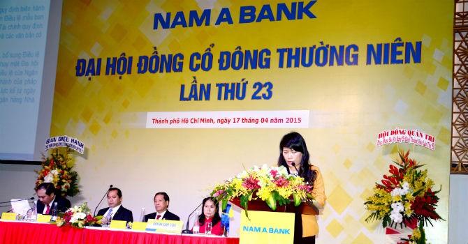 ĐHĐCĐ NamABank: Mục tiêu 360 tỷ đồng lợi nhuận trước thuế năm 2015