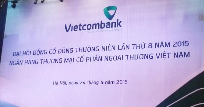 ĐHĐCĐ Vietcombank: Trong quý II sẽ bán 1.000 tỷ đồng nợ xấu cho VAMC