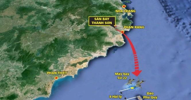 Phát hiện vết dầu loang ở khu vực hai chiếc Su 22 gặp nạn