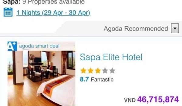 Khách sạn 3 sao ở Sapa hét giá 46 triệu/đêm ngày 30/4