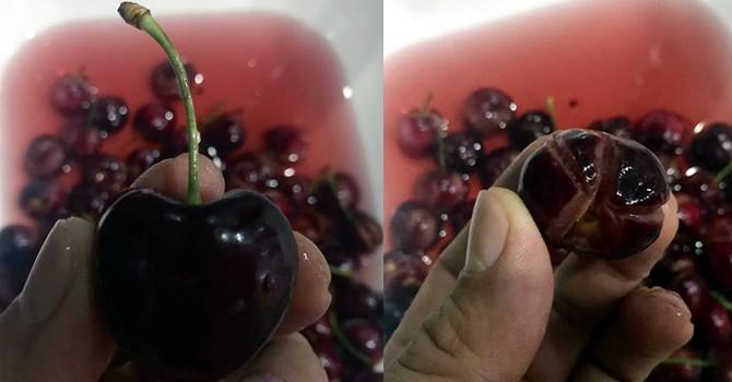"""Cherry """"ngoại"""" tiền triệu: Đột biến màu, nứt toác"""