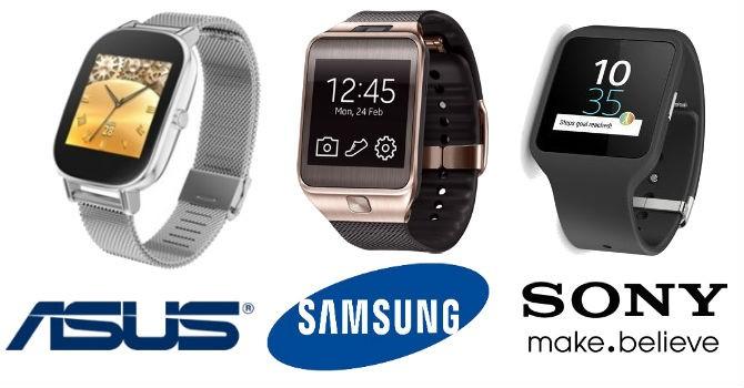 Đồng hồ thông minh của Asus, Samsung và Sony có gì?