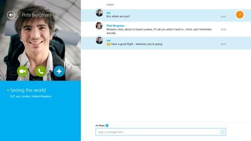 Microsoft khai tử Skype cảm ứng cho Windows 8