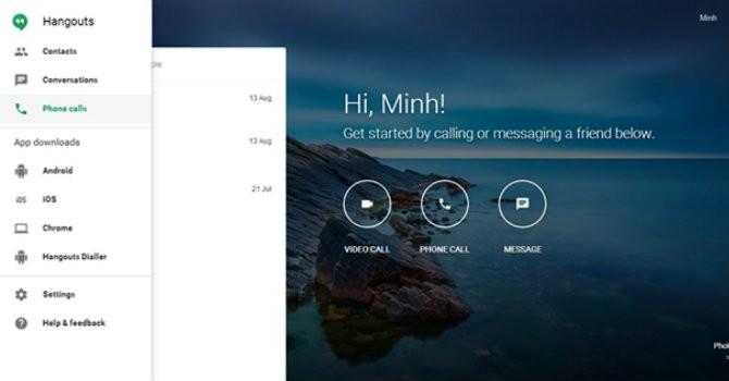 Google ra website cho ứng dụng nhắn tin gọi điện Hangouts