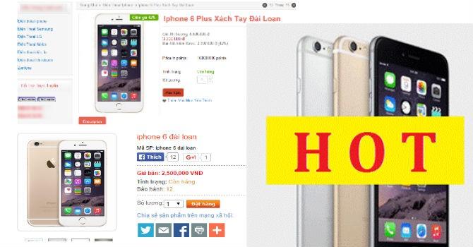 """iPhone """"xách tay"""" giá bằng 1/10 hàng chính hãng?"""