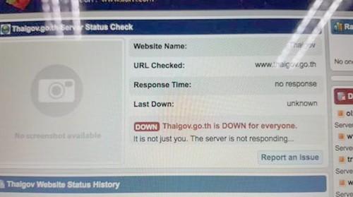 Thái Lan: Nhiều trang web chính phủ bị đánh sập