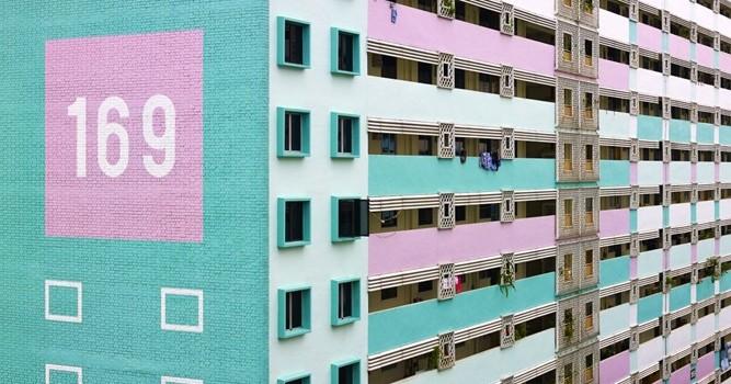 Ngắm loạt nhà chung cư màu mè bắt mắt ở Singapore