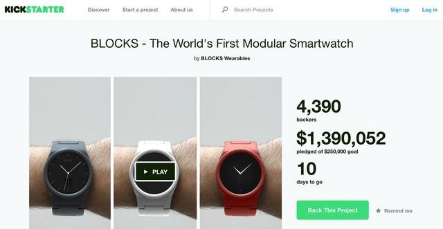 """Tìm hiểu dự án smartwatch """"xếp hình"""" đang làm mưa làm gió giới công nghệ"""