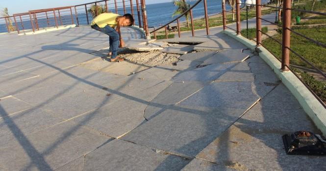 Công viên biển bàn giao một năm đã xuống cấp
