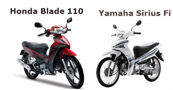 Cùng khoảng giá, chọn mua Honda Blade hay Yamaha Sirius?