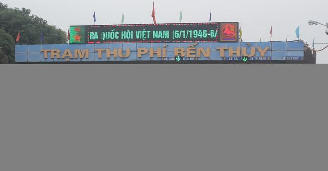 Hai trạm thu phí cầu Bến Thủy tiếp tục tăng giá vé