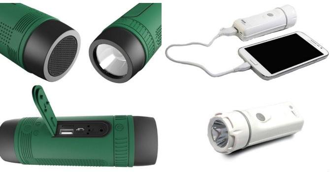 Sạc pin dự phòng kiêm loa - đèn Trung Quốc, ai dám mua?