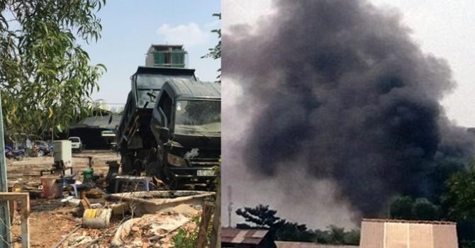 Gara ô tô ở Sài Gòn bị cháy vì... đốt rác
