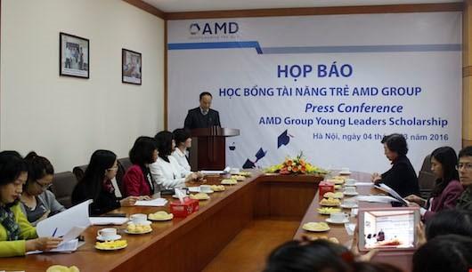 AMD Group lập Quỹ Học bổng Tài năng trẻ dành cho sinh viên Việt Nam 