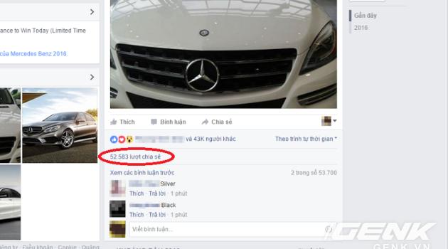 """Năm 2016 rồi, đừng mắc trò lừa """"share Facebook trúng xe Mercedes hay iPhone 6s"""""""