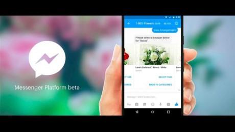 Sắp có thể đặt hoa, mua giầy, đọc báo trên Facebook Messenger