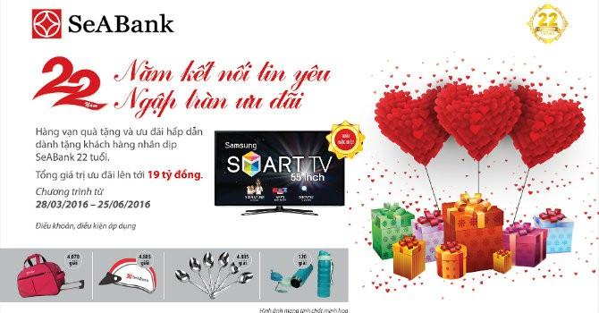 """Chúc mừng những khách hàng trúng thưởng đợt 3 chương trình """"22 năm kết nối tin yêu - ngập tràn ưu đãi"""" của SeABank"""