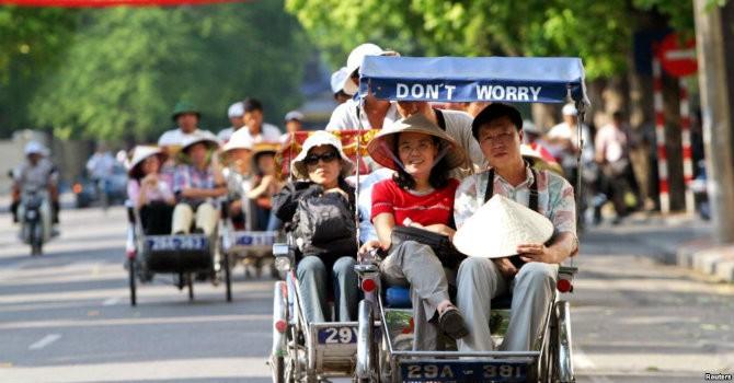 Khách du lịch từ châu Á đến Việt Nam chủ yếu là Trung Quốc