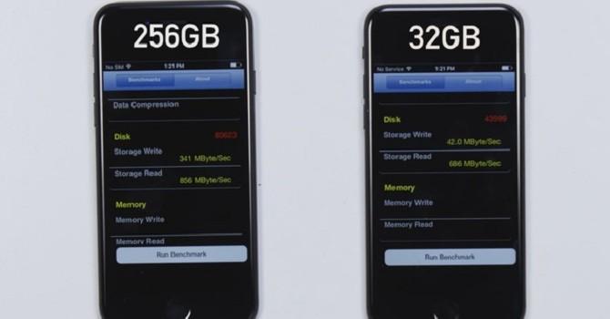 Tại sao không nên lo lắng về việc iPhone 7 32 GB có tốc độ lưu trữ chậm hơn?