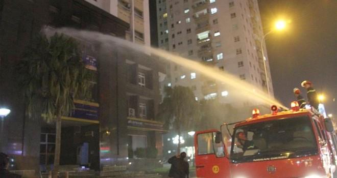 Hỏa hoạn tại trường mầm non trên chung cư 25 tầng