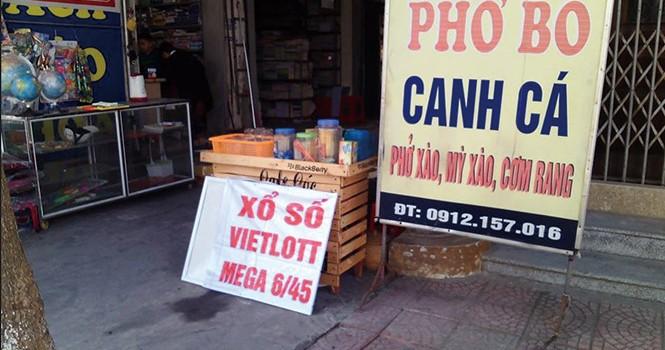 Xổ số Vietlott xuất hiện trái phép ở Thái Bình