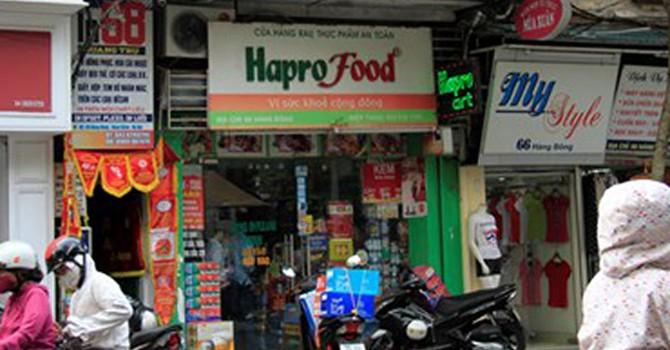 Teo tóp chuỗi cửa hàng rau an toàn Hapro