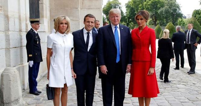 """Tổng thống Trump lại gây """"bão mạng"""" với bình luận về Đệ nhất phu nhân Pháp"""