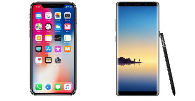 So sánh cấu hình 2 mẫu điện thoại hot nhất hiện nay iPhone X và Samsung Galaxy Note 8