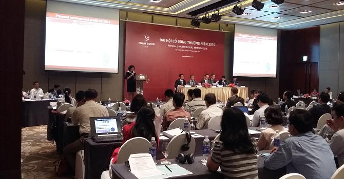 ĐHĐCĐ Nam Long: Phát hành 15 triệu cổ phiếu cho nhà đầu tư chiến lược