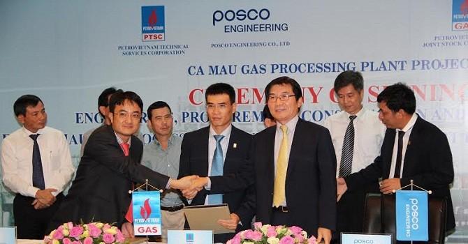 PVGas ký kết với Posco, PVS xây dựng nhà máy xử lý khí Cà Mau
