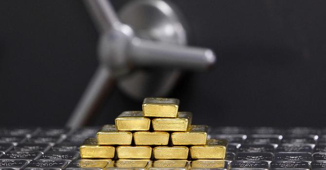 Giá vàng tăng vọt chạm đỉnh 5 tuần