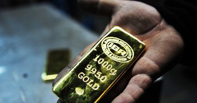 Giá vàng ngược dòng lên đỉnh 1 tháng