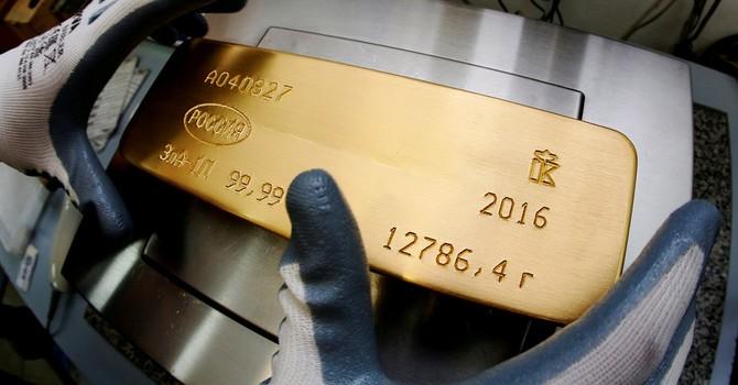 Giá vàng giảm mạnh nhất 5 tuần xuống đáy 1 tháng rưỡi