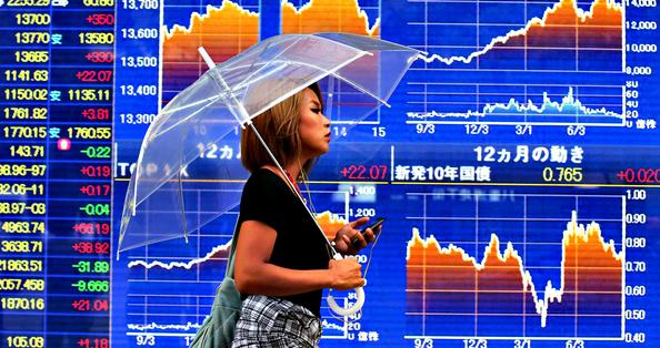 Chứng khoán Nhật Bản tăng mạnh nhất 7 năm
