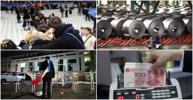 Thế giới 24h: Pháp truy nã nghi phạm thứ 8, Nhật Bản lại lún vào suy thoái