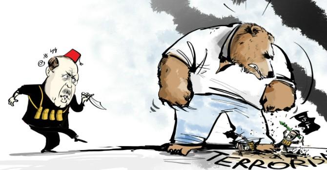 """Biếm họa tuần qua: Thổ Nhĩ Kỳ bắn máy bay Nga và tên lửa Mỹ """"lạc lối"""""""